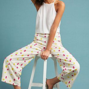 Cropped Clip Dot Trousers Conversations by Anthro